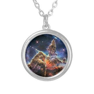 Carina Nebulae Round Pendant Necklace