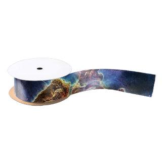 Carina Nebulae space in blue Satin Ribbon
