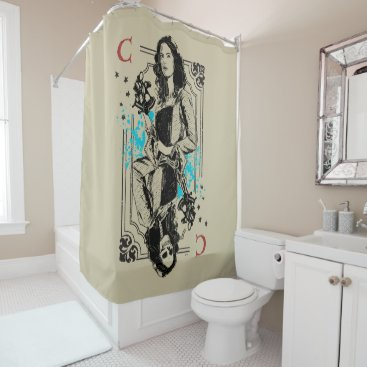 Disney Themed Carina Smyth - Fearsomely Beautiful Shower Curtain