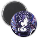 """""""Carina"""" Violet Butterfly Fairy Magnets"""