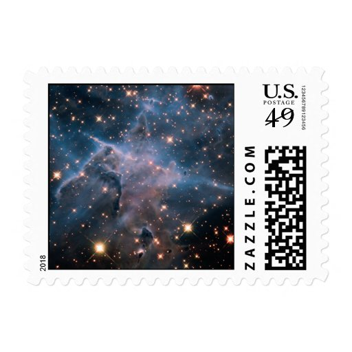 Carina's 'Mystic Mountain' in Infrared Postage Stamp