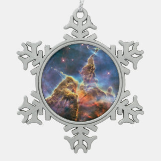 Carina's 'Mystic Mountain' Snowflake Pewter Christmas Ornament