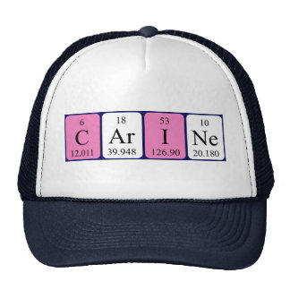 Carine periodic table name hat