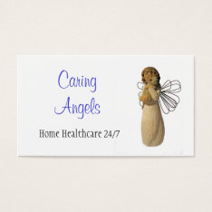 Caring Angels Nursing Care Business Card at Zazzle