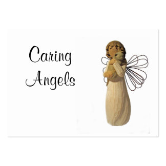 Caring Angels Nursing Care Business Card Templates