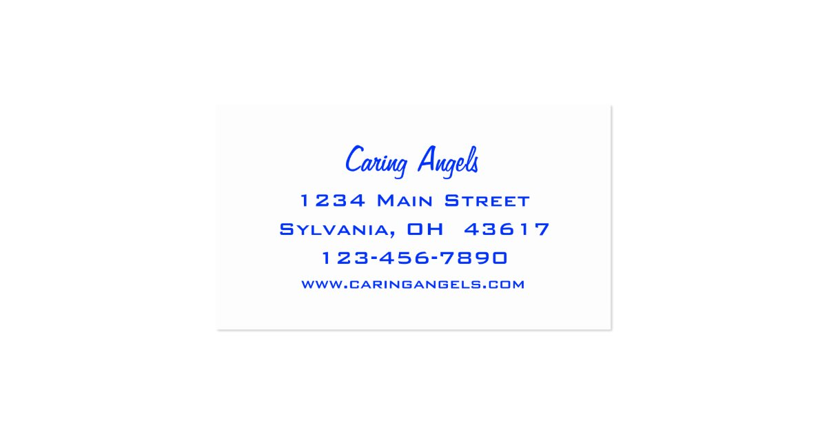 Caring angels nursing care business card zazzle for Nursing business cards