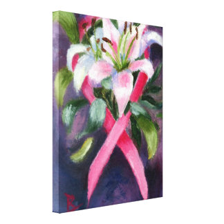 Caring Breast Cancer Awareness Canvas Canvas Prints