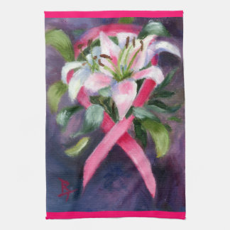 Caring Breast Cancer Awareness hand towels