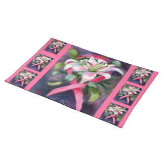 Caring Breast Cancer Awareness place mats