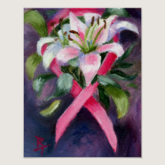 Caring Breast Cancer Awareness Poster
