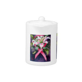 Caring Breast Cancer Awareness Teapot