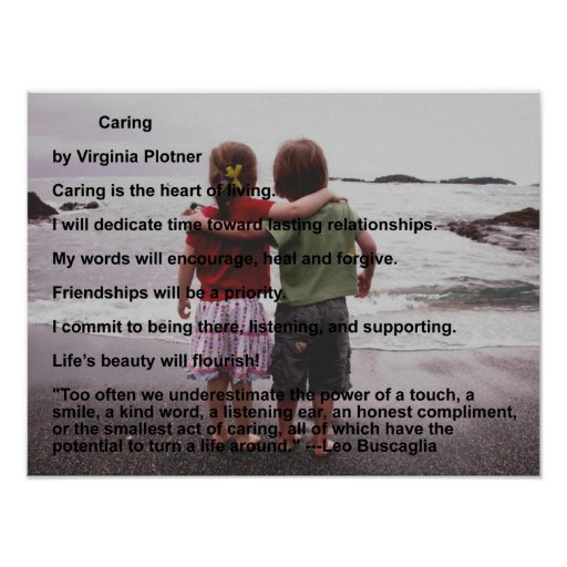 Caring by Virginia Plotner Print