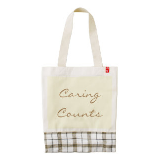 Caring Counts, Zazzle HEART Tote Bag