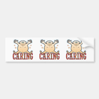 Caring Fat Man Bumper Sticker