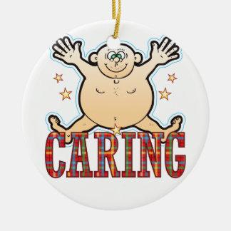 Caring Fat Man Ceramic Ornament
