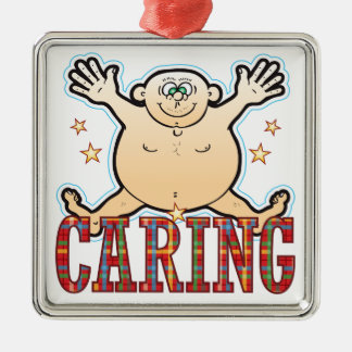 Caring Fat Man Metal Ornament