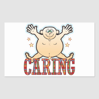 Caring Fat Man Rectangular Sticker