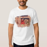 Caring for an injured man in a castle T-Shirt