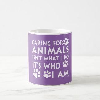 Caring for animals coffee mug