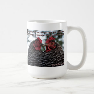 Caring for Creation Dominique Chickens mug