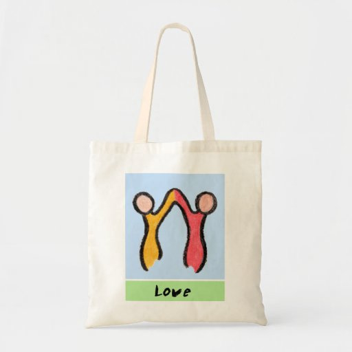 CARING IMAGES~LOVE budget tote Canvas Bags