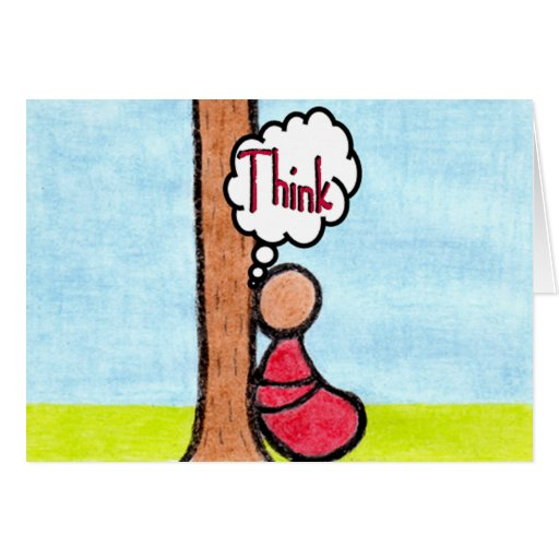 CARING IMAGES~THINK greeting card
