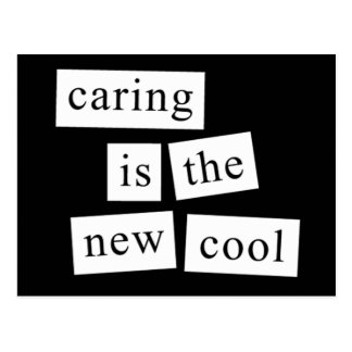 caring is the new cool postcard