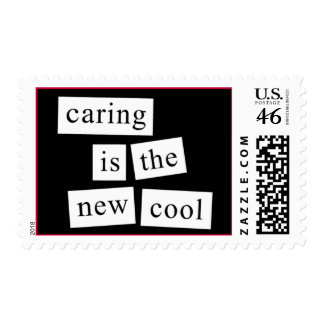 caring is the new cool stamp