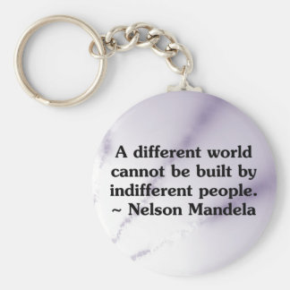 Caring people can change the world keychain