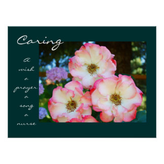 Caring Rose Healing Touch Gifts A Nurse A Prayer Posters
