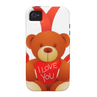 Caring Teddy Love Romantic Case-Mate iPhone 4 Cover