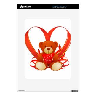 Caring Teddy, Love , Romantic Skin For iPad