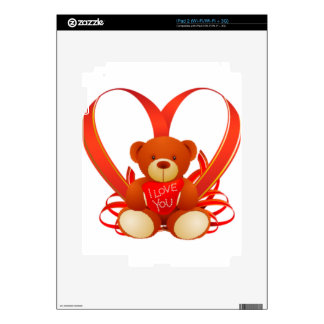 Caring Teddy, Love , Romantic Skin For iPad 2
