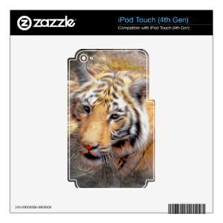 Caring Tiger Decals For iPod Touch 4G
