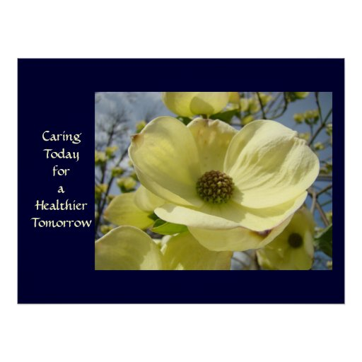 Caring Today for a Healthier Tomorrow art print