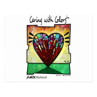 Caring with Colors Postcard