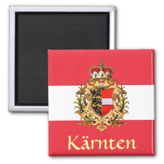 Carinthia Coat of Arms 2 Inch Square Magnet