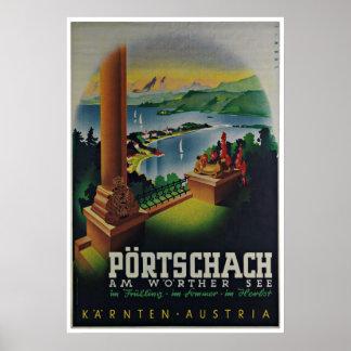 Carinthia Karnten Austria Vintage Travel Poster