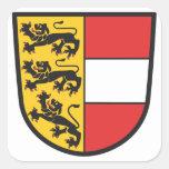 Carintia escudo de armas pegatina cuadrada