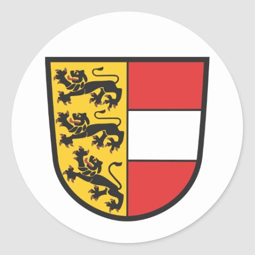 Carintia escudo de armas pegatina redonda