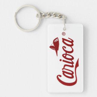Carioca Double-Sided Rectangular Acrylic Keychain
