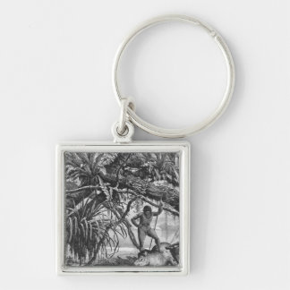 Caripuna Indians with tapir Keychain