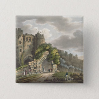 Carisbrook Castle, from 'The Isle of Wight Illustr Pinback Button