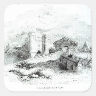 Carisbrook Castle, Isle of Wight Square Sticker