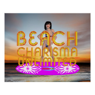 Carisma de la playa de la CAMISETA Poster