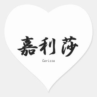 Carissa translated into Japanese kanji symbols. Sticker