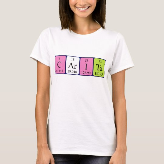 Carita periodic table name shirt
