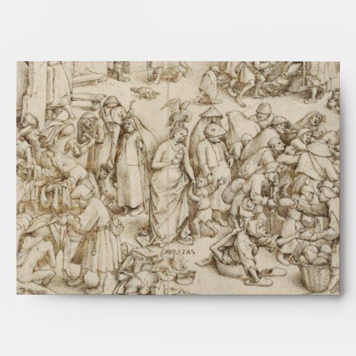 Caritas (Charity) by Pieter Bruegel the Elder Envelopes