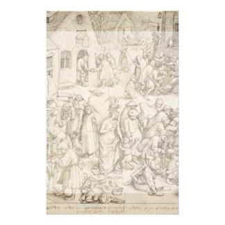 """Caritas (Charity) by Pieter Bruegel the Elder 5.5"""" X 8.5"""" Flyer"""