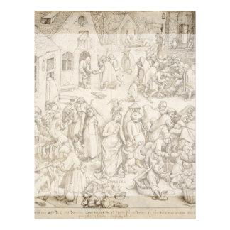 """Caritas (Charity) by Pieter Bruegel the Elder 8.5"""" X 11"""" Flyer"""